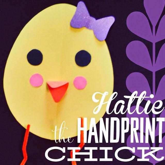 Easter Kid Craft Idea Handprint Chick