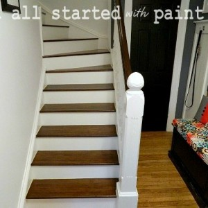 how to stain stairs