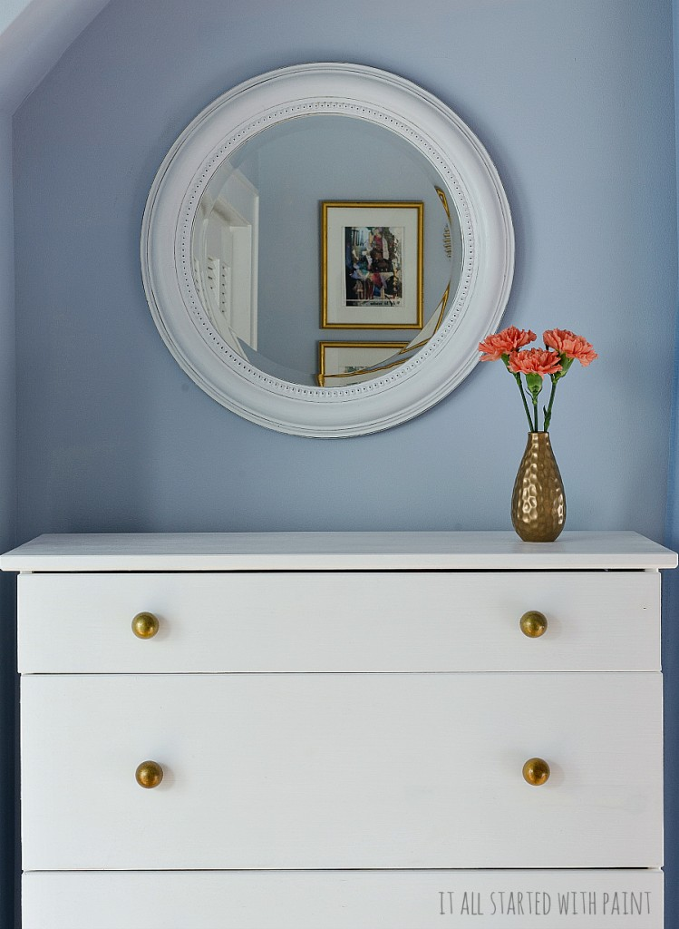 Ikea Hack: Ikea Tarva Hack with Paint and Brass Knobs