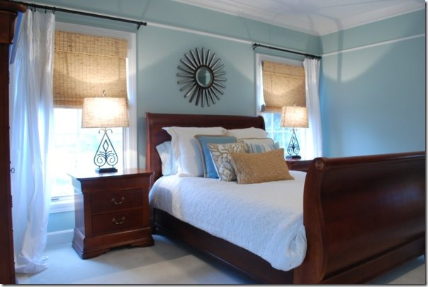 blue-brown-bedroom Sweet Chaos Design