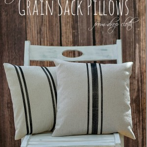 grain sack pillow