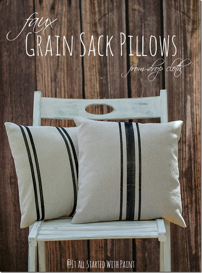 Faux Grain Sack Pillows It All Started With Paint Beauteous Grain Sack Pillow Covers