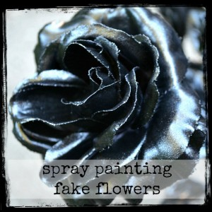 spray paint flowers