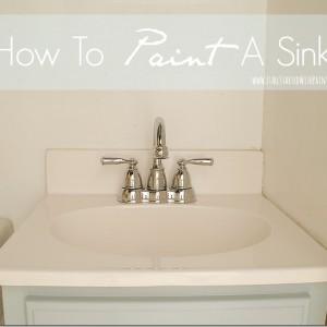 paint sink