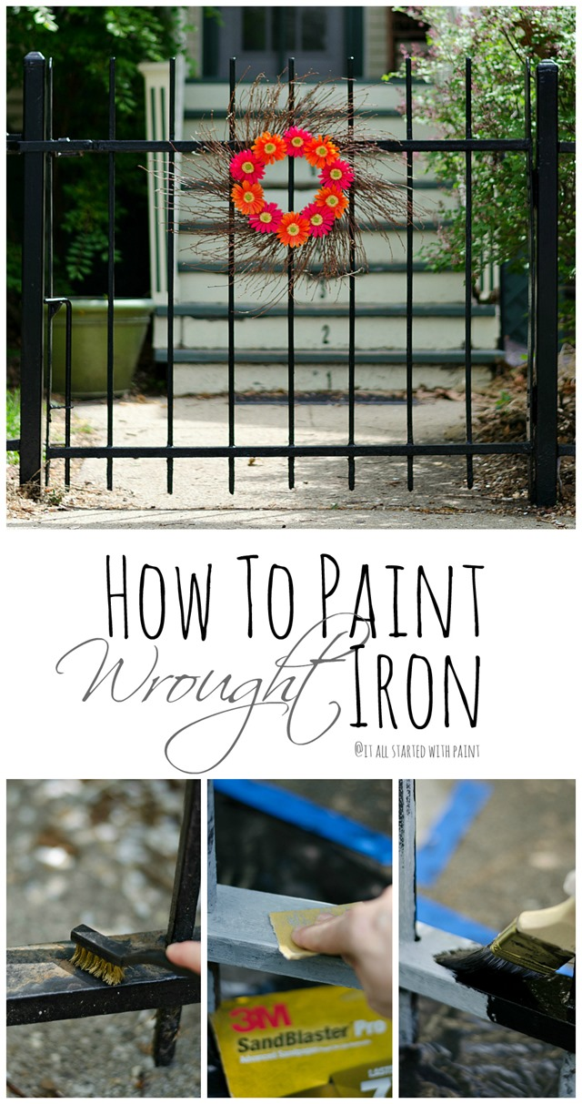 how-to-paint-iron-fence wrought iron tutorial