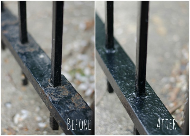 how-to-paint-wrought-iron-fence 2