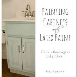 latex paint on cabinets