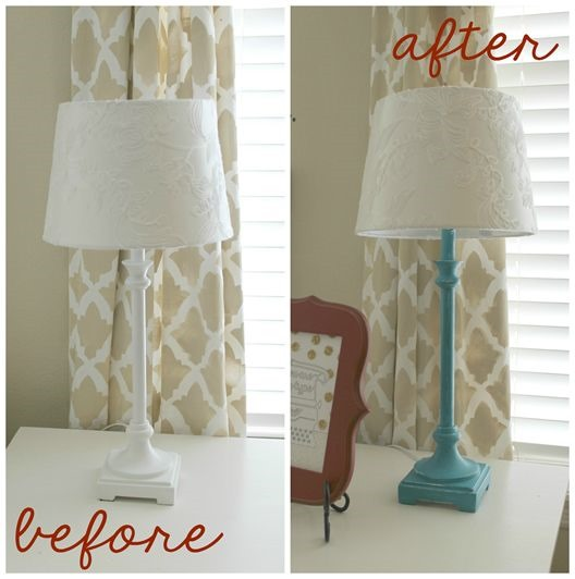Lamp-Makeover Ginger Snap Crafts