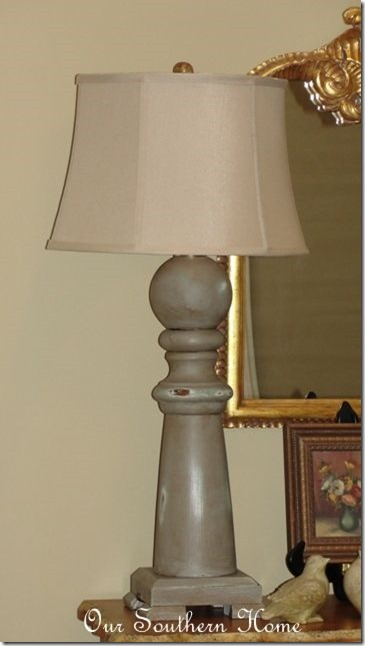 chalkpaint-lamp-makeover Our Southern Home