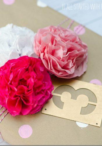 homemade-gift-wrap-tissue-paper-flowers