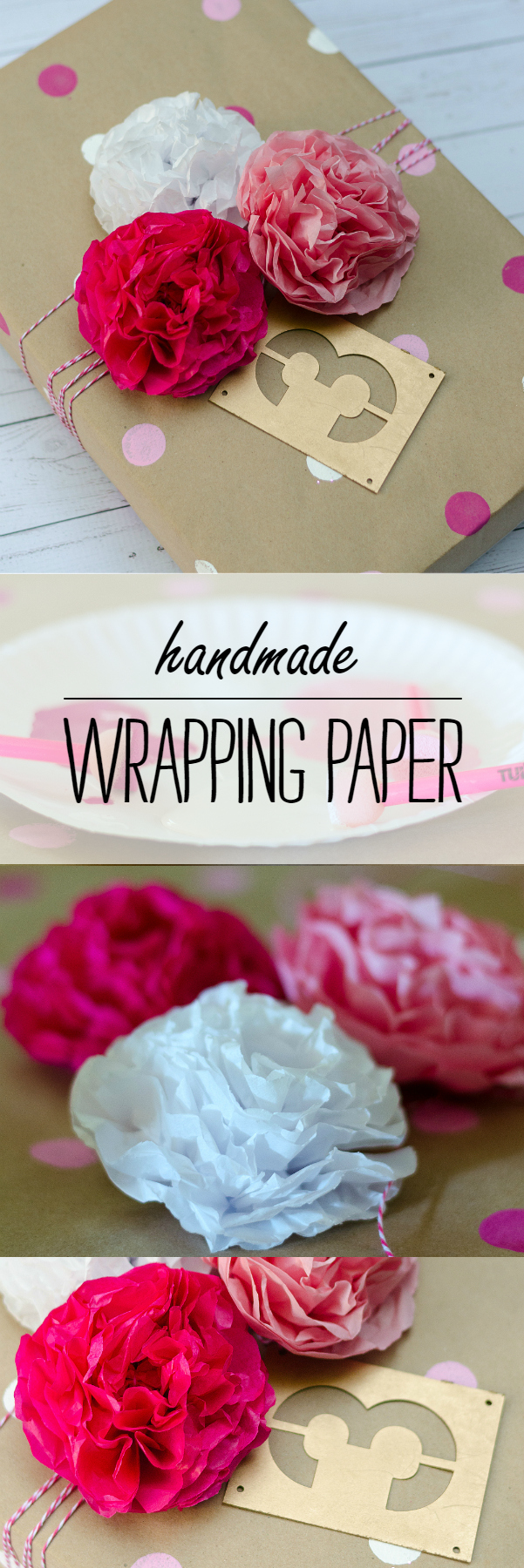 Make Your Own Wrapping Paper with Paint and Brown Paper