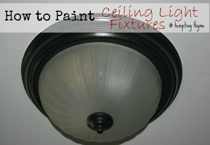 Can You Paint Bathroom Light Fixtures paint this! 30+ lamp & light fixture makeovers - it all started