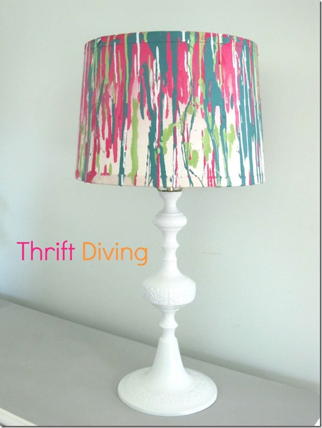 lamp-and-lampshade-makeover-with-paint Thrift Diving