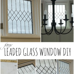 Faux Leaded Glass Window