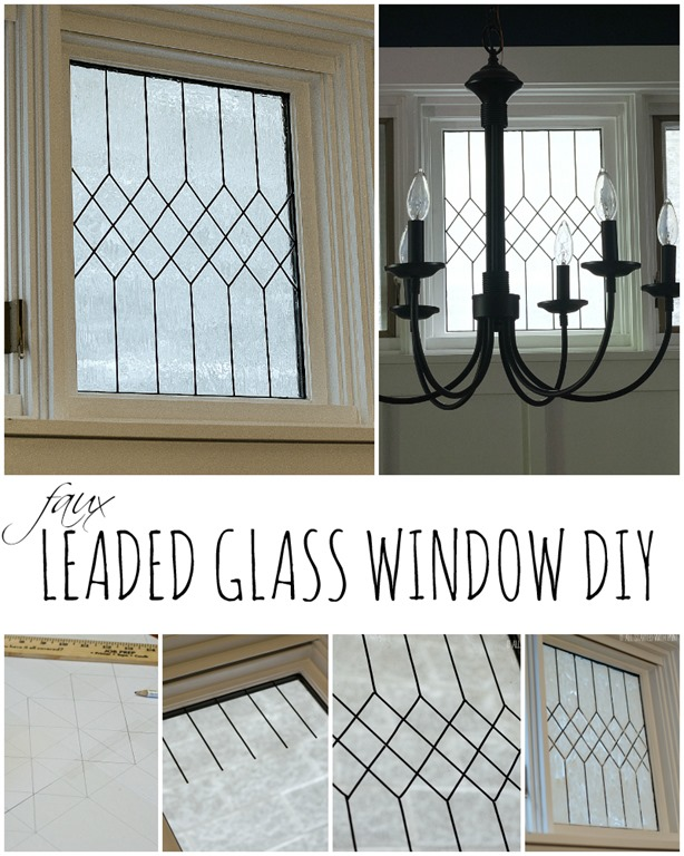 Frosting Glass Windows Yourself] Diy Faux Frosted Window Craft O ..