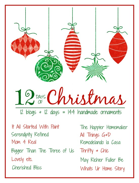 12 days of christmas bloggers graphic_thumbjpg - 12 Days Of Christmas Decorations