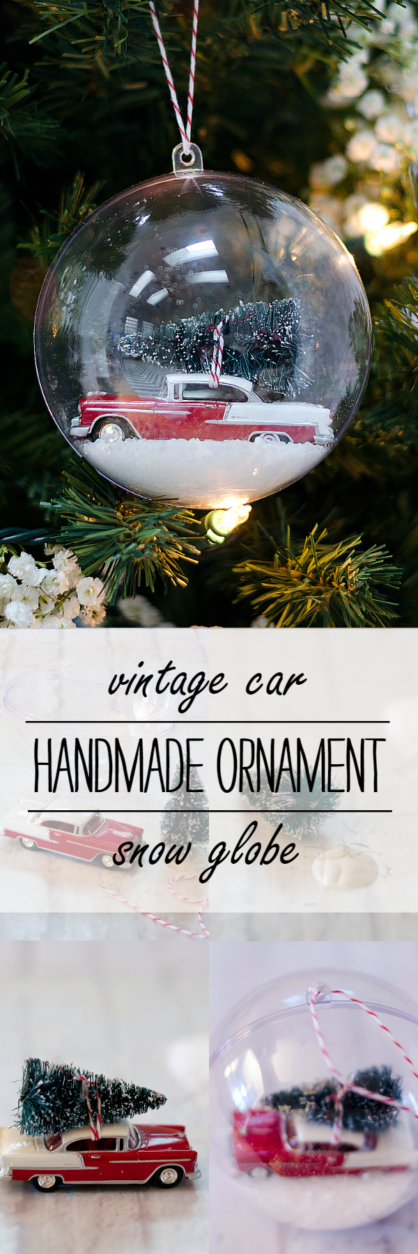 Vintage Car Handmade Ornament for Christmas