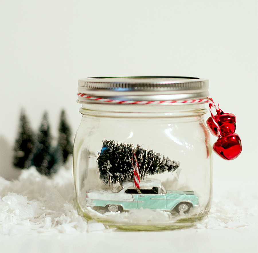 Snow Globe Idea with Vintage Car
