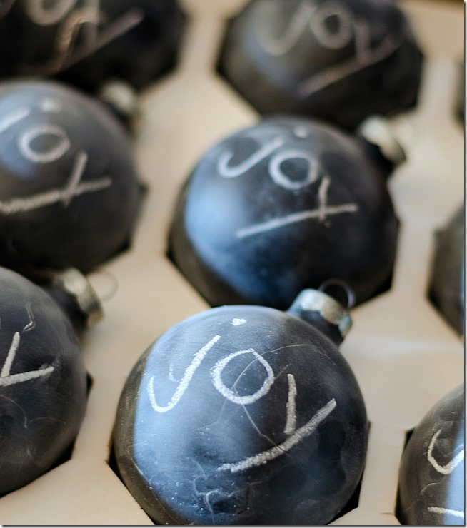 chalkboard-painted-christmas-ball-ornaments 3