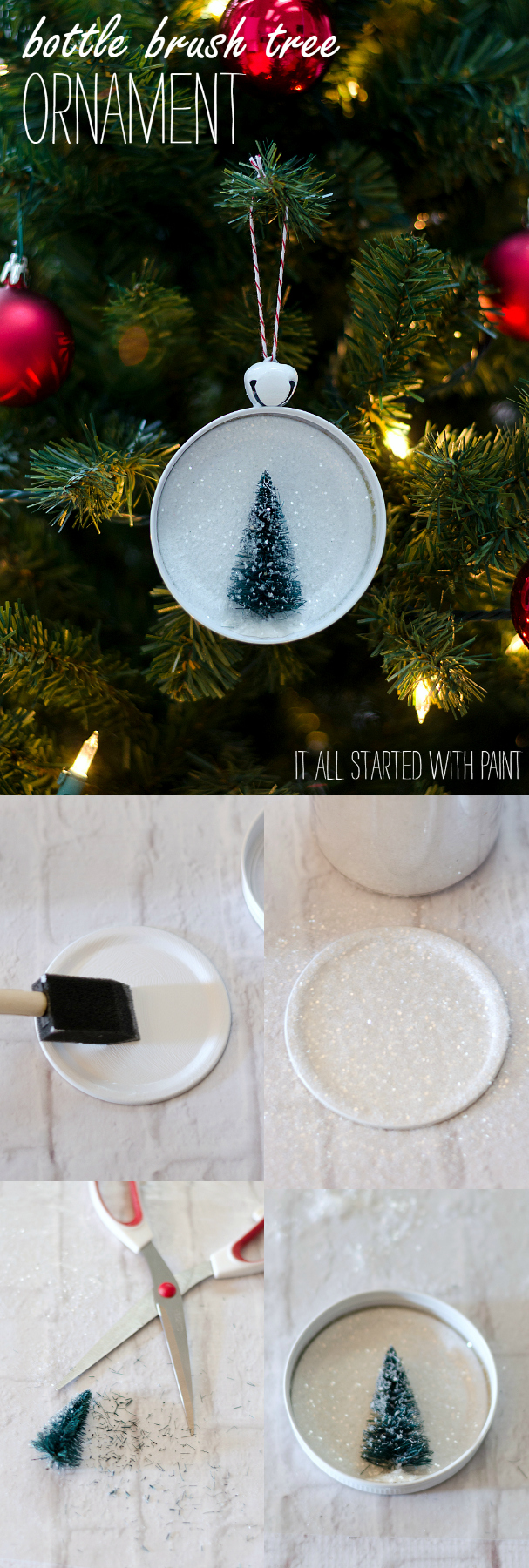 Bottle Brush Tree Christmas Ornament Ideas