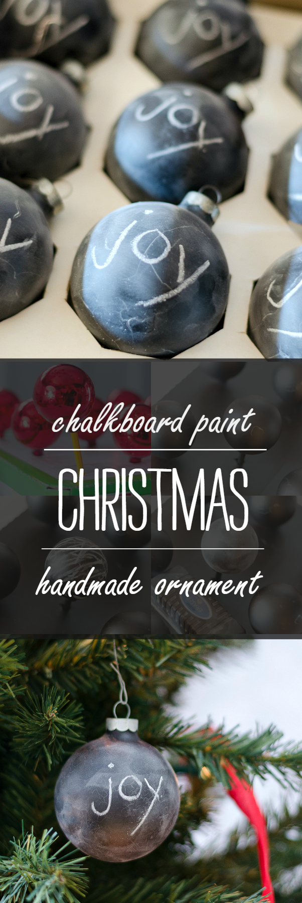 Handmade Ornament Ideas with Chalkboard Paint