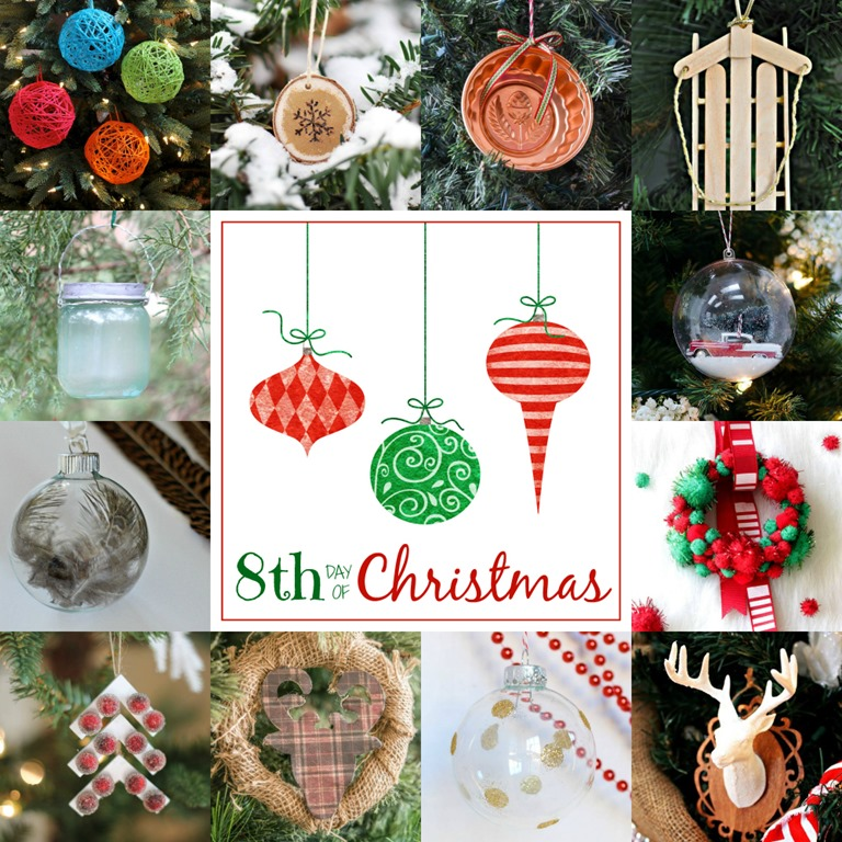 christmas ornament craft ideas day 8 1000 x 1000 - 12 Days Of Christmas Decorations