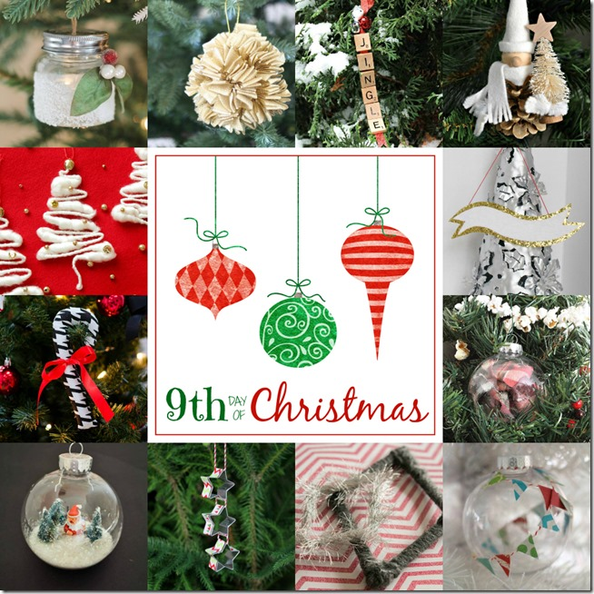 12 bloggers + 12 Days of Christmas = 144 Handmade Christmas Ornaments
