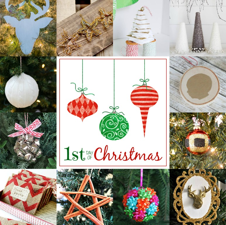 Mini gift bow ornament all things gd 12 bloggers 12 days 144 handmade christmas ornaments get inspired today solutioingenieria Gallery