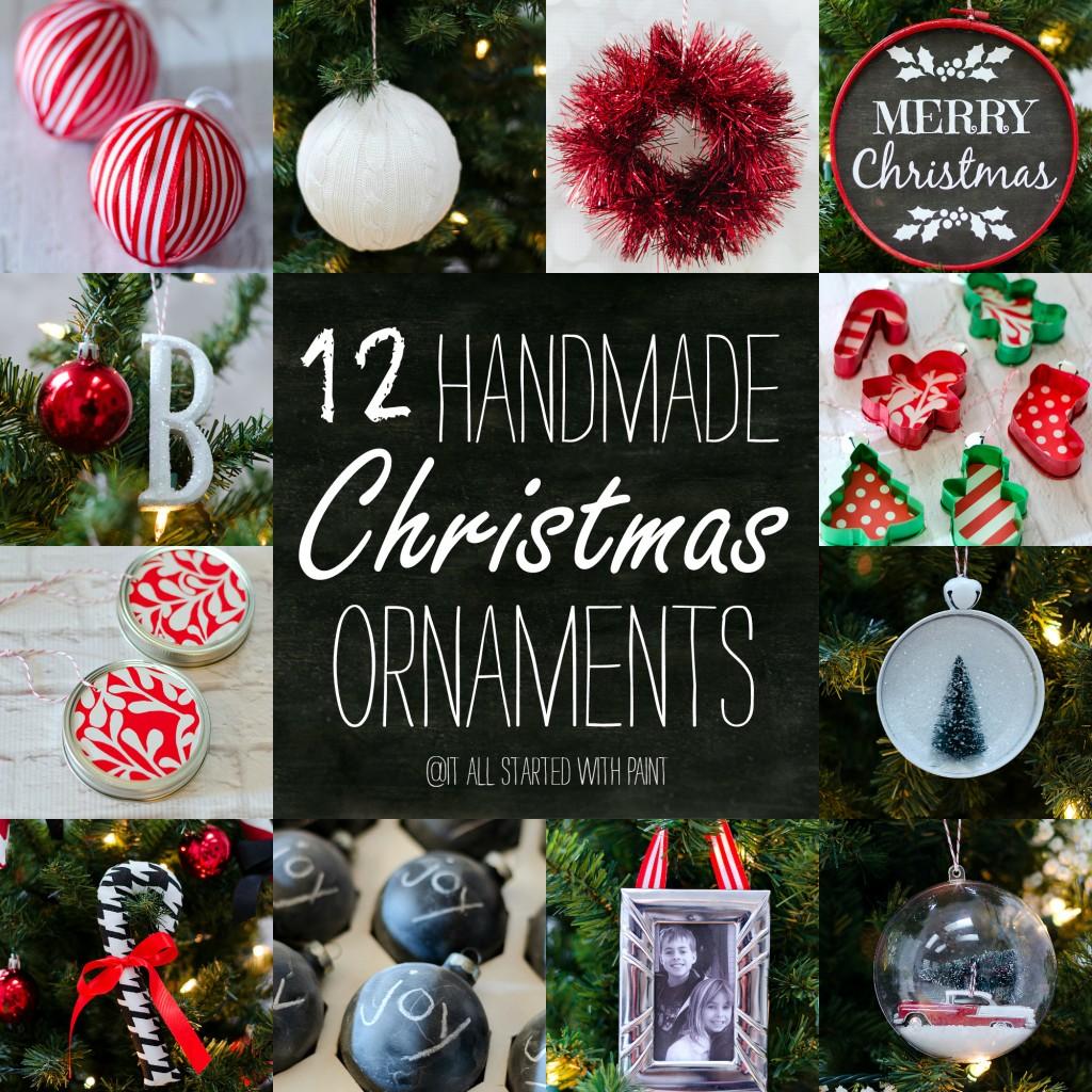 christmas photo ornament ideas - Handmade Christmas Ornament Ideas