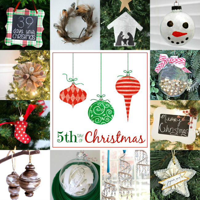 collage of diy ornament ideas.