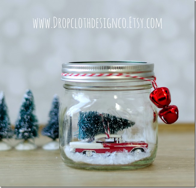 mason-jar-snow-globe-red-car-bottle-brush-tree-2