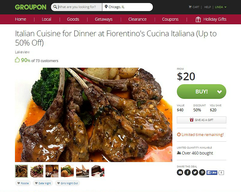 Fiorentino's Groupon Deal