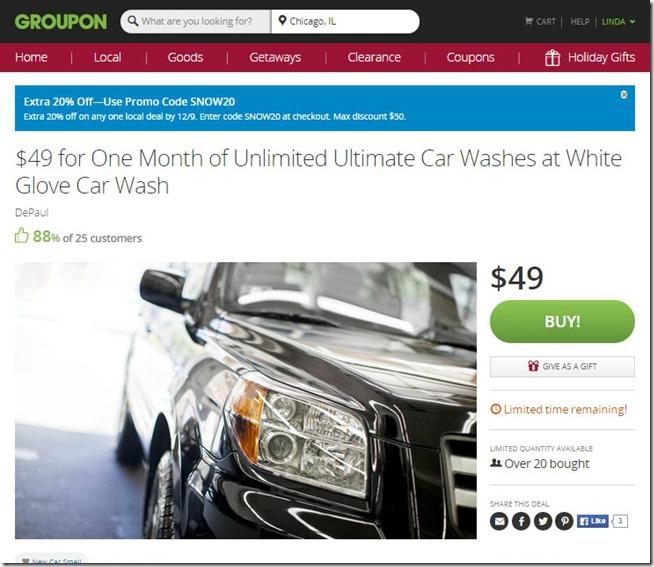 Groupon Car Wash Deal 2