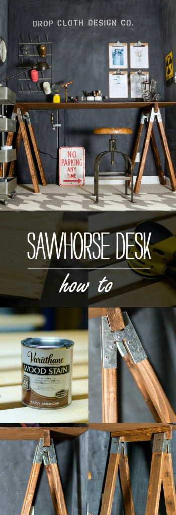 Sawhorse Desk DIY Project