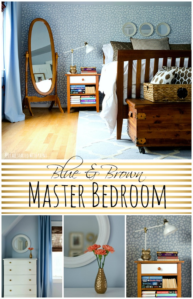 blue-brown-bedroom collage