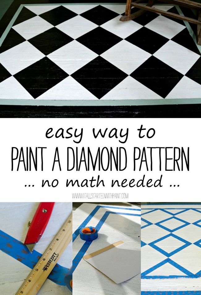 How To Paint A Diamond Pattern Porch Rug