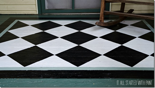 how-to-paint-diamonds-on-porch-rug 2-3