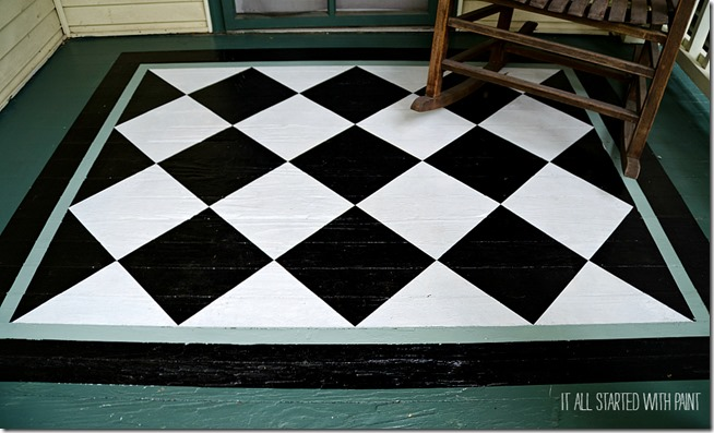 how-to-paint-diamonds-on-porch-rug 2-6