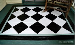 painted porch rug