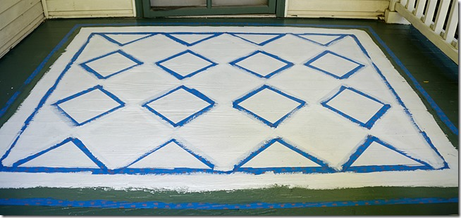 how-to-paint-diamonds-on-porch-rug 3-2