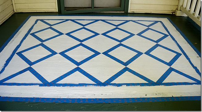 how-to-paint-diamonds-on-porch-rug 3