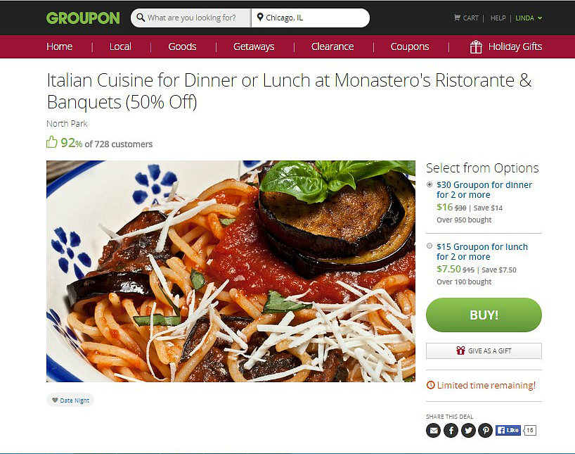 monastero's Chicago Groupon PIc