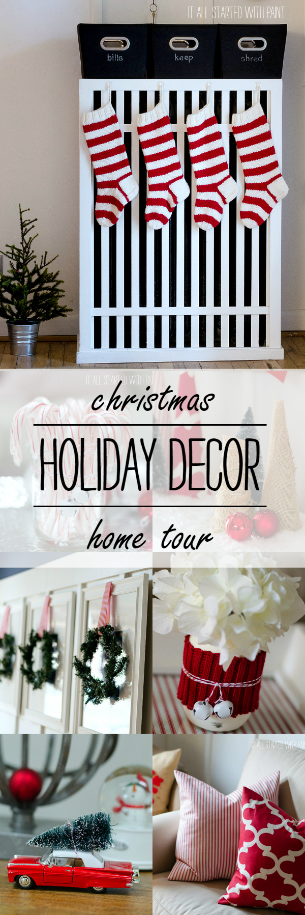 Christmas Decorating Ideas Using Red and White