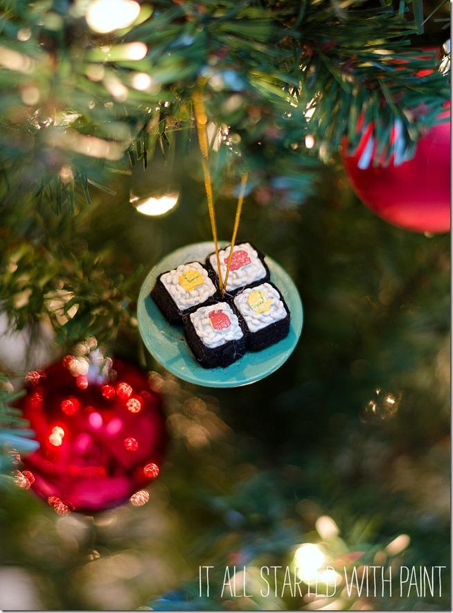 christmas ornament sushi