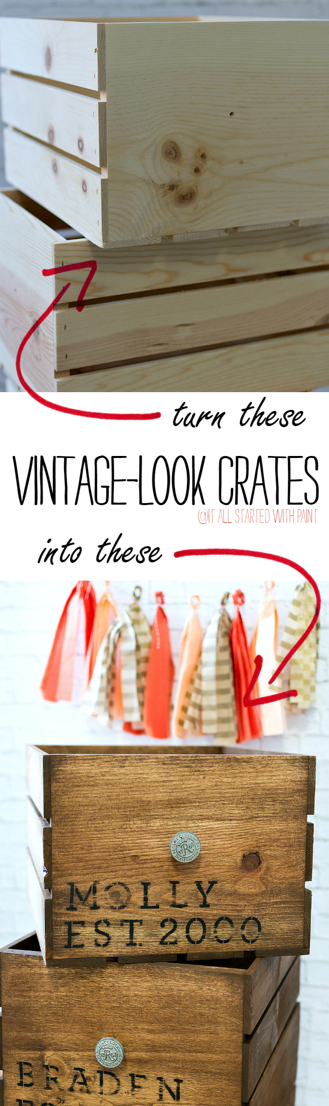 How To Age New Crates to Look Vintage