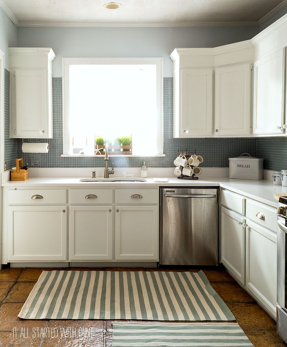 Used White Kitchen Cabinets: How To Paint Builder Grade Cabinets