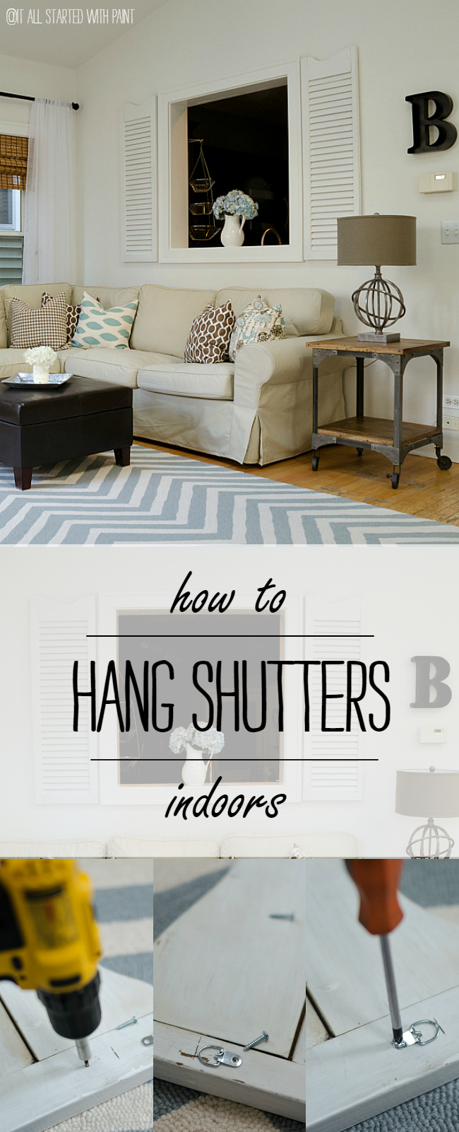 How To Hang Shutters Indoors
