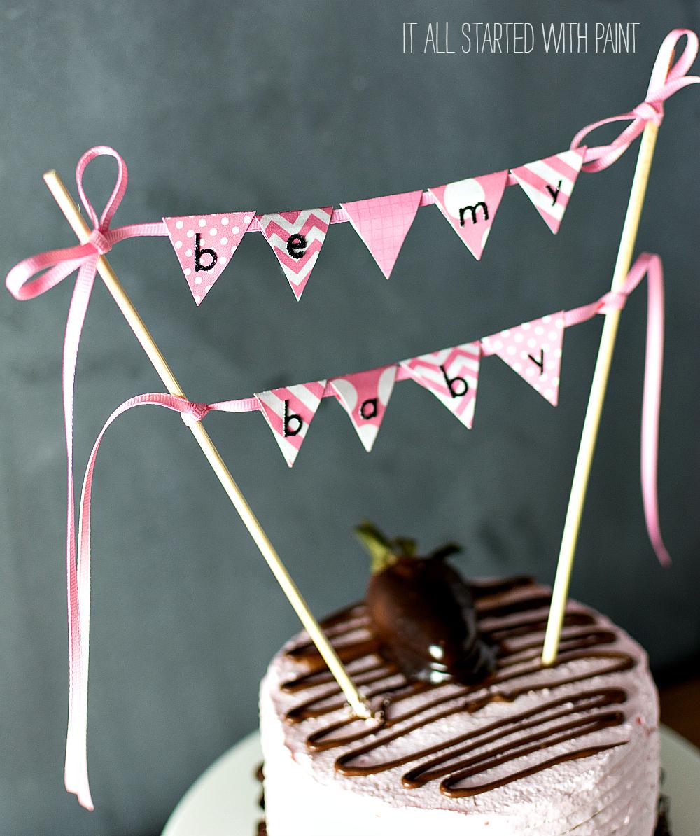 cake banner topper