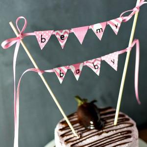 valentine day cake banner