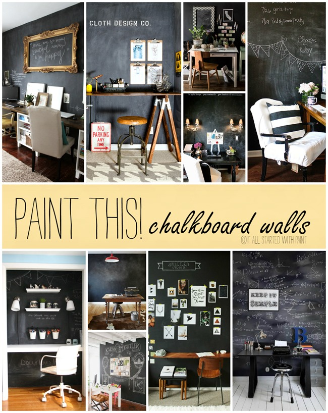 Paint This! Chalkboard Walls in Office Spaces - It All Started With ...